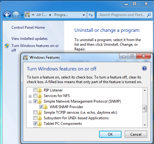 How to set up Windows SNMP Service